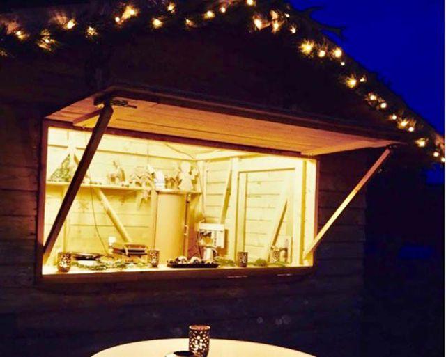Abb. Weihnachten feiern mit eigener Glühweinhütte für Sie und Ihr Team?