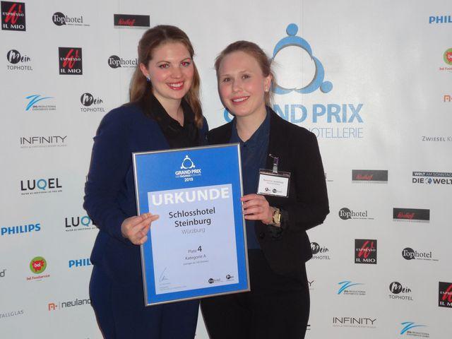 Abb. Grand Prix der Tagungshotellerie - Steinburg auf Platz 4!