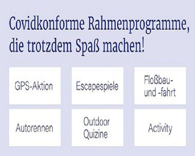 Abb. Corona-konforme Rahmenprogramme