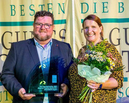 Bester Tagungshotelier 2020 Claudia und Jörg Bachmann