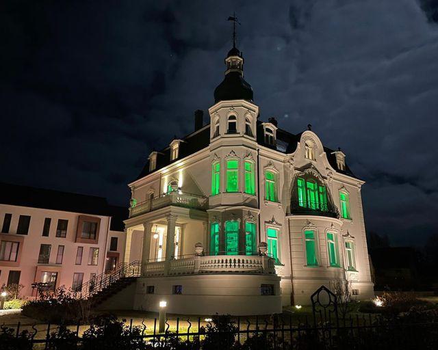 """Abb. Wir senden """"Grünes Licht""""!"""